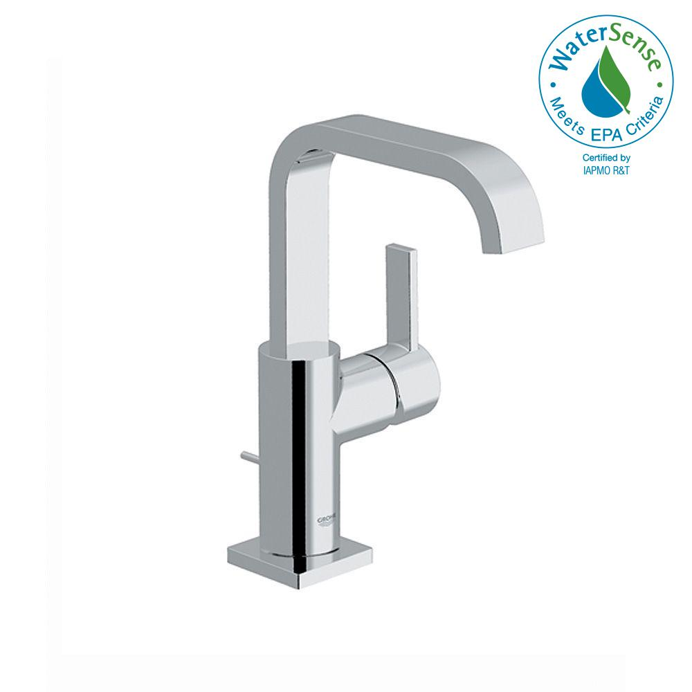 Allure 1-Hole Single Handle High-Arc Bathroom Faucet in Chrome