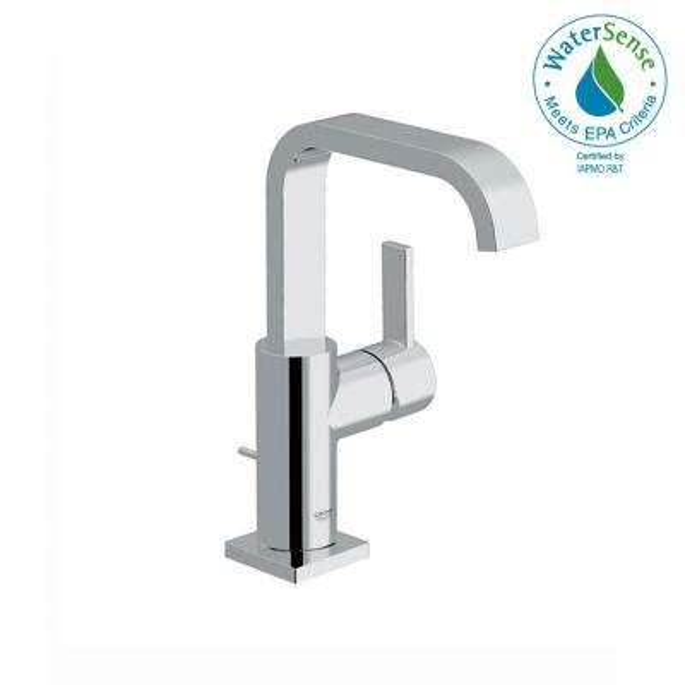 Allure 1-Hole Single Handle High-Arc Bathroom Faucet in Chrome