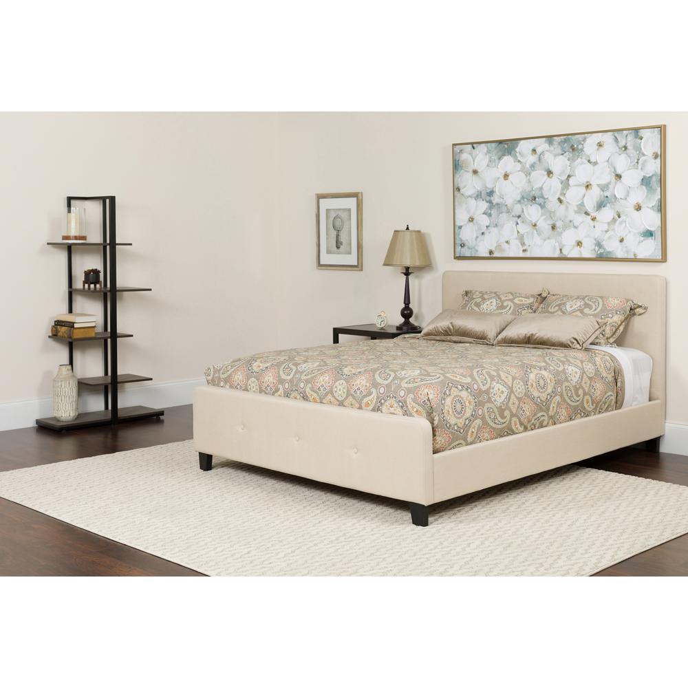Light Gray Queen Bed Set