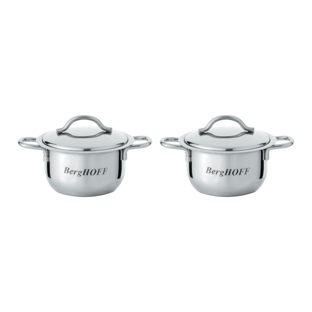 2-Piece Mini Pot Cookware Set with Lids