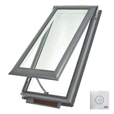 21 x 37-7/8 in. Solar Powered Fresh Air Venting Deck-Mount Skylight with Laminated Low-E3 Glass
