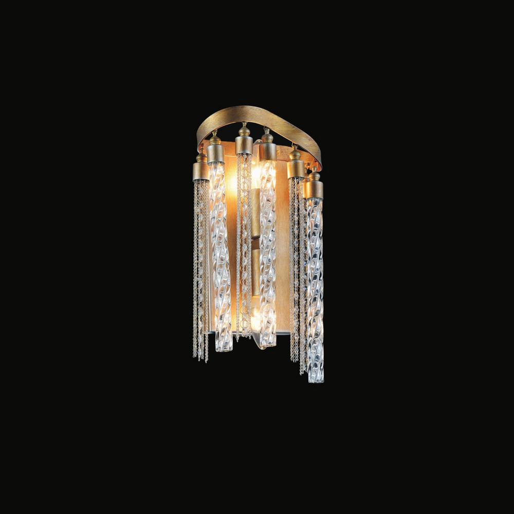 CWI Lighting Storm 2-Light Gold Sconce