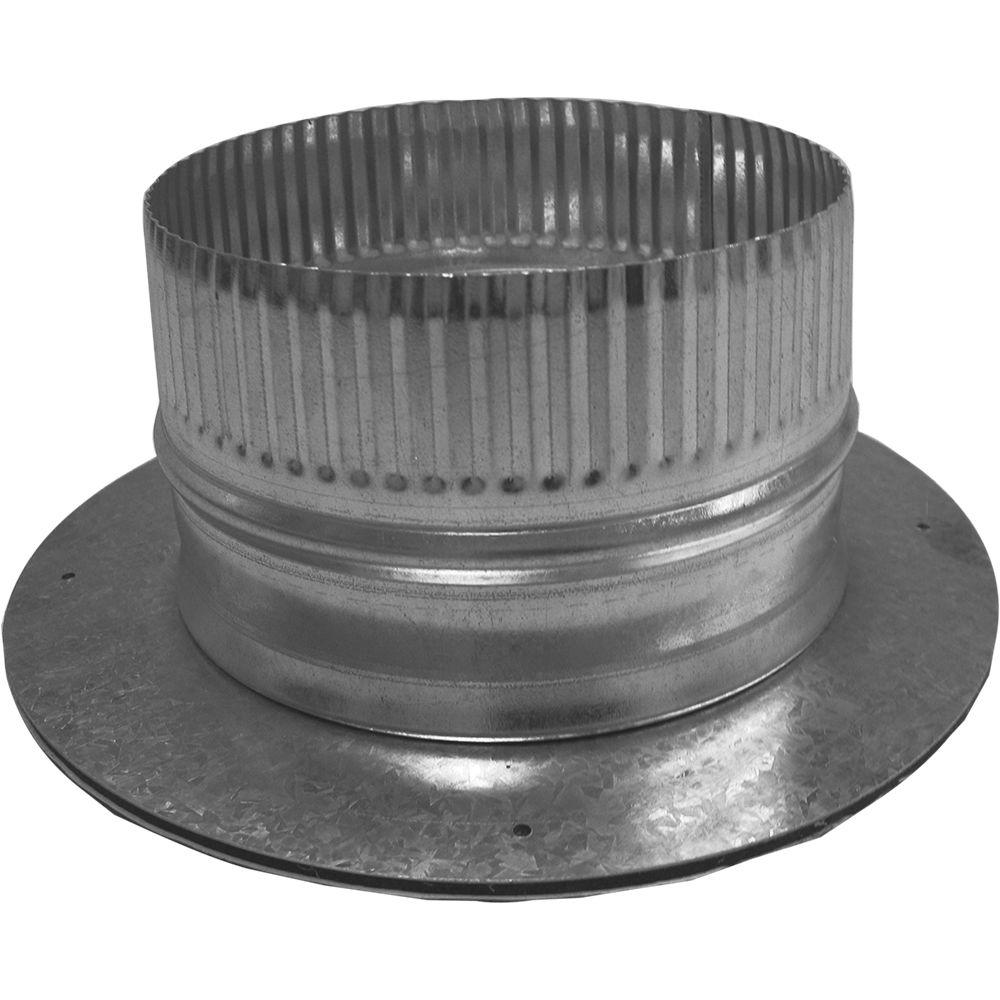 6 in. Dia Galvanized Take Off Start Collar and Gasket