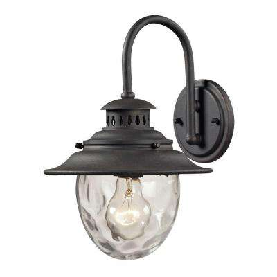 Searsport 1-Light Weathered Charcoal Outdoor Sconce