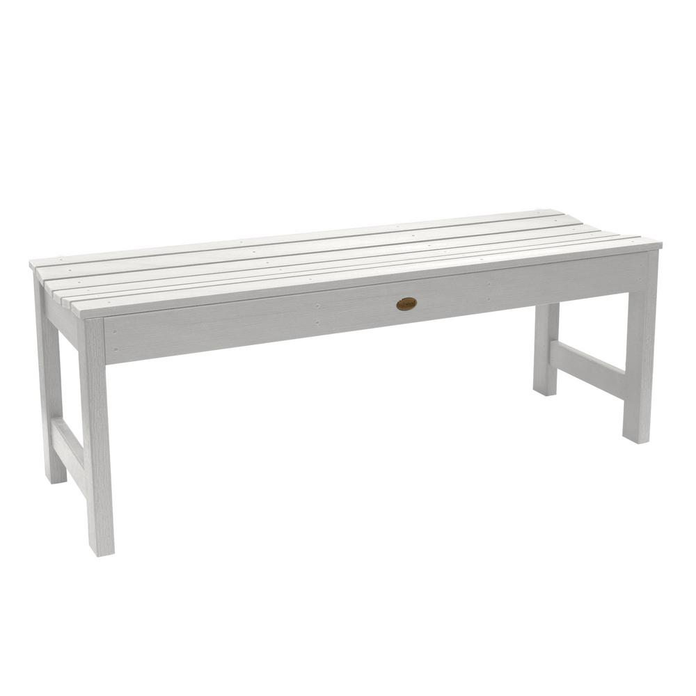 Super Highwood Lehigh 48 In 2 Person White Recycled Plastic Outdoor Picnic Bench Ibusinesslaw Wood Chair Design Ideas Ibusinesslaworg