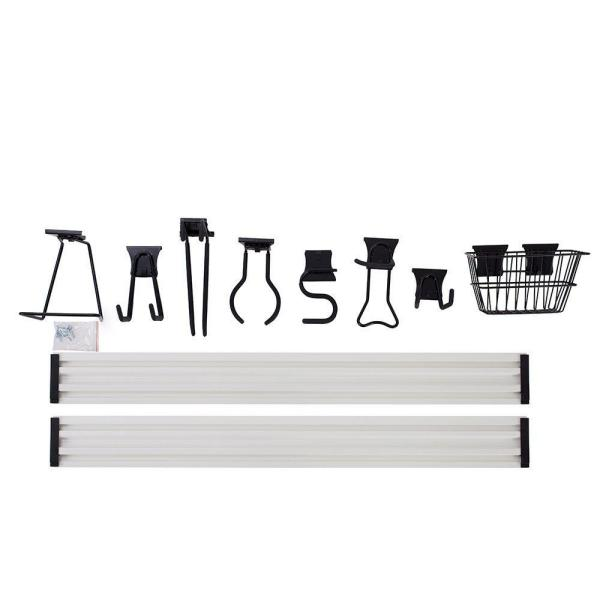 12 in x 47.8 in. x 7.9 in. Trackwall and Accessories 8-Piece Kit