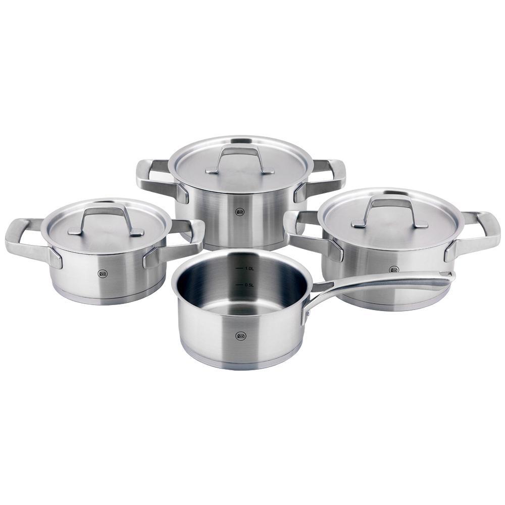 Kaiserstuhl 7-Piece Stainless Steel Stock Pot Set with Lids