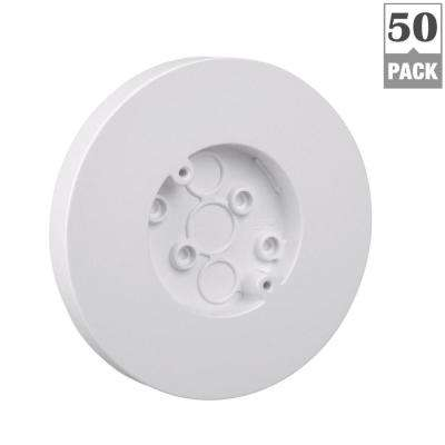 1-Gang 3.8 cu. in. Old Work Round Surface Outlet Electrical Box - White (Case of 50)