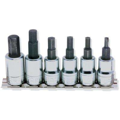 3/8 in. Drive Metric Hex Tip Socket Set (6-Piece)