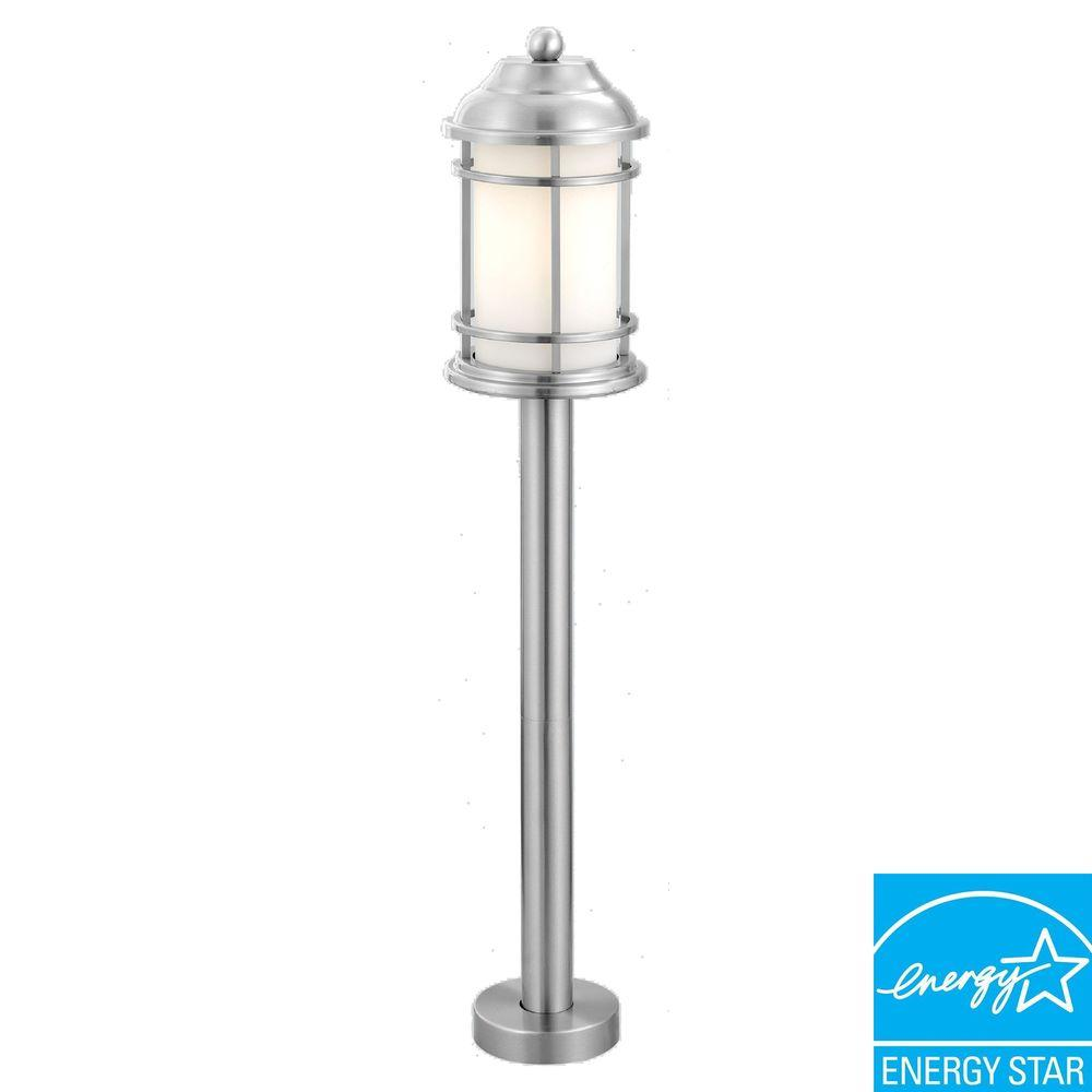 Eglo Portici 1-Light Stainless Steel Outdoor Post Light