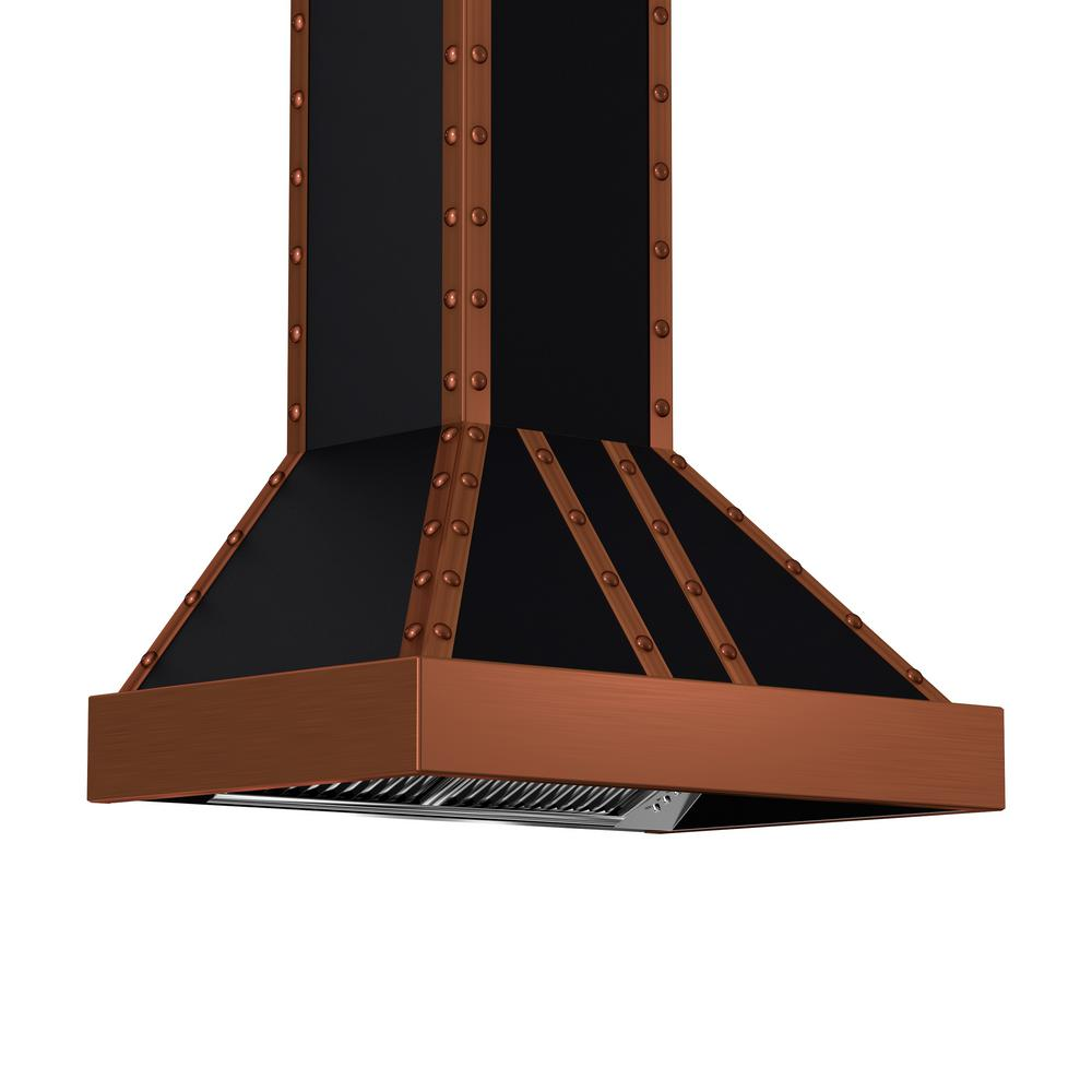 ZLINE Kitchen and Bath 36 in. 1200 CFM Wall Mount Range Hood in Oil-Rubbed Bronze and Copper
