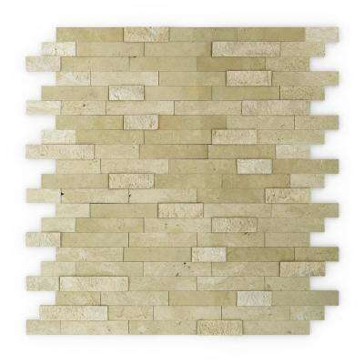 Cairo Beige 11.75 in. x 11.6 in. x 5 mm Stone Self Adhesive Mosaic Wall Tile (11.36 sq. ft. / case)