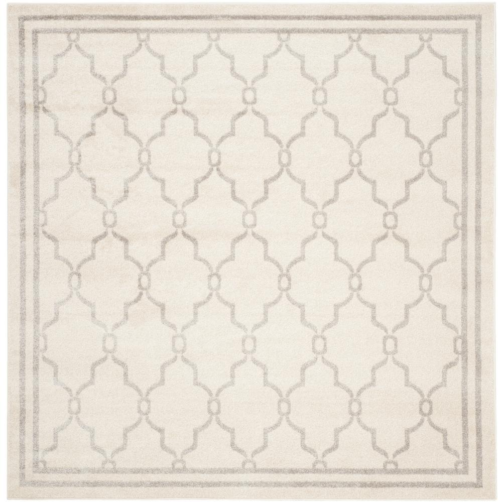 Amherst Ivory/Light Gray 7 ft. x 7 ft. Indoor/Outdoor Square Area