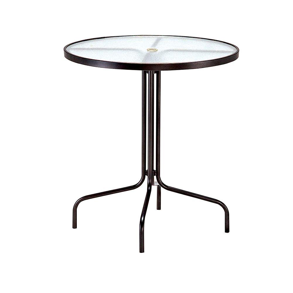 Tradewinds 36 in. Java Acrylic Top Commercial Patio Bar Table