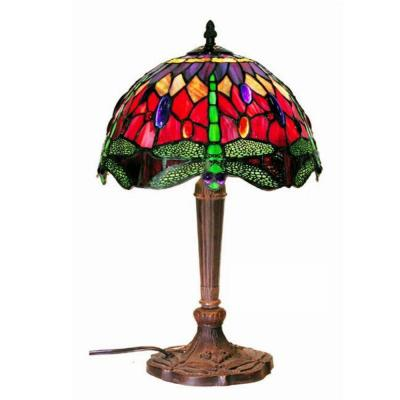 Dragonfly 18 in. Bronze/Multicolored Table Lamp