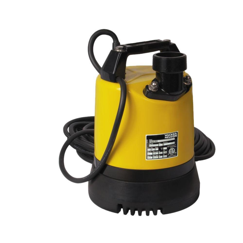 Wacker 2/3 HP 2 in. Electric Submersible Utility Pump