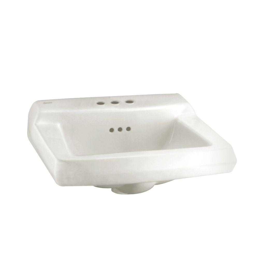 Comrade Wall-Mounted Bathroom Sink in White