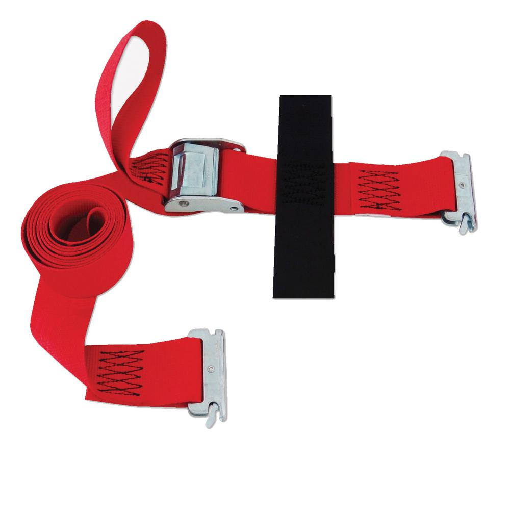 Logistic Cam E Strap With Hook And Loop Storage Fastener In Red Slte208cr The Home Depot