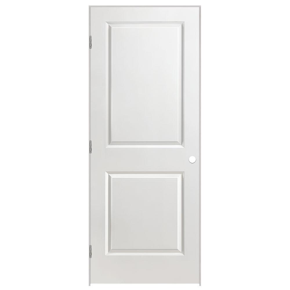 Masonite 32 in. x 80 in. Solidoor 2-Panel Square Top Right-Handed Solid-Core Smooth Primed Composite Single Prehung Interior Door