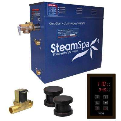 Oasis 12kW QuickStart Steam Bath Generator Package with Built-In Auto Drain in Polished Oil Rubbed Bronze