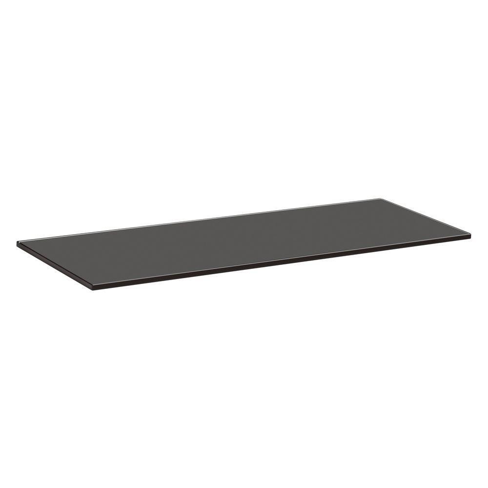 Dolle 24 in. x 8 in. x 5/16 in. Line Shelf in Black Glass-34195 ...