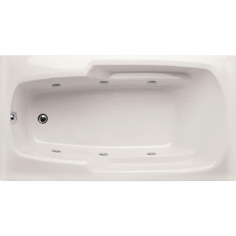 Studio 5 ft. Reversible Drain Whirlpool Tub in White