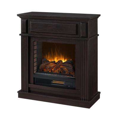 Parksley 31 in. Freestanding Compact Infrared Electric Fireplace in Espresso
