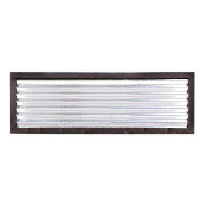 2 ft. x 6 ft Avalon Corrugated Metal Fence Panel with Black Frame