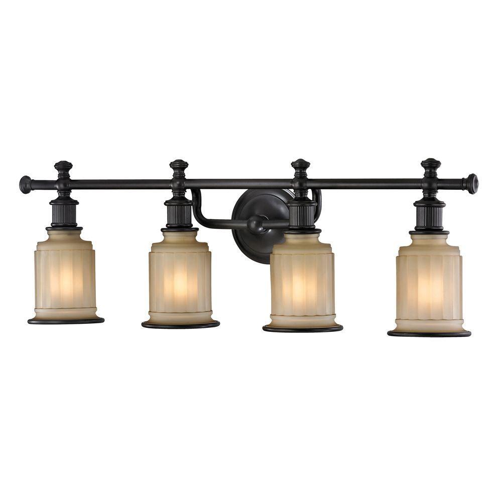 Titan Lighting Kildare 4-Light Oil Rubbed Bronze Bath Light