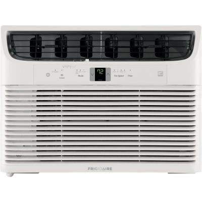 10,000 BTU Window-Mounted Room Air Conditioner in White with Wi-Fi