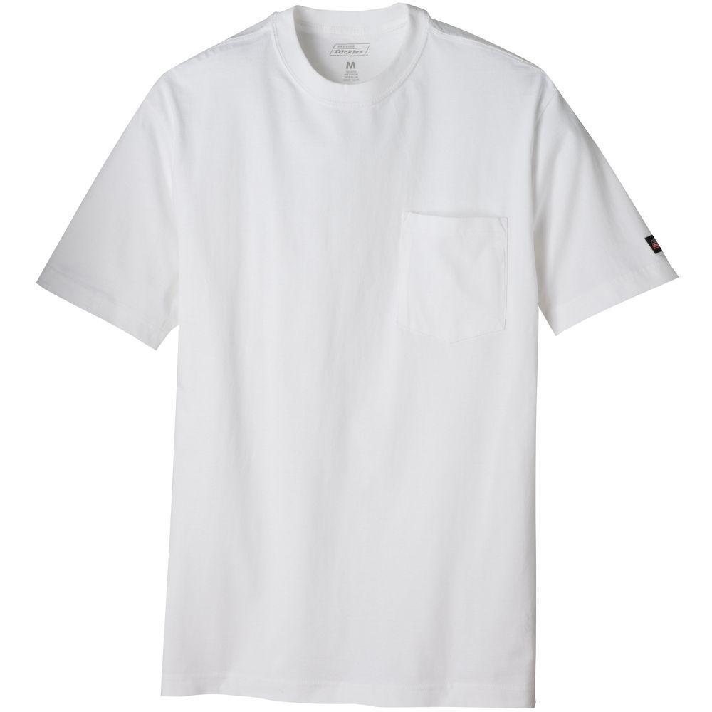 Men's Large White Pocket T-Shirt