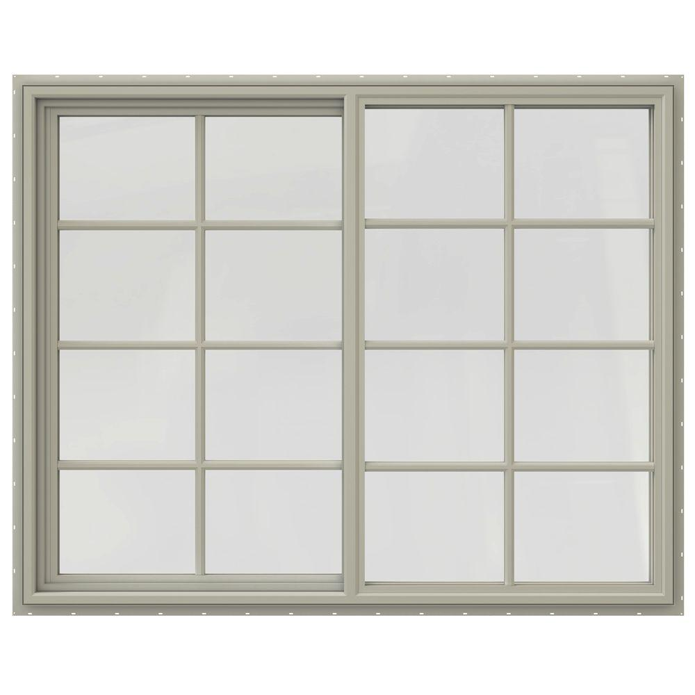 59.5 in. x 47.5 in. V-4500 Series Right-Hand Sliding Vinyl Window