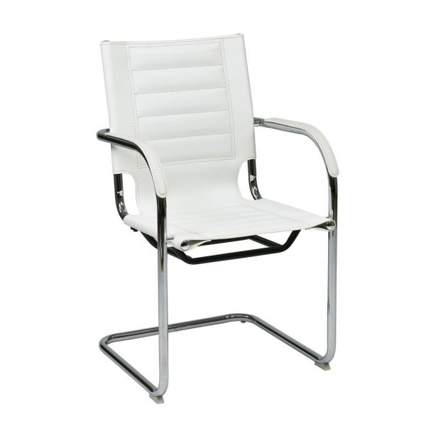 Office Star Products White Trinidad Guest Chair