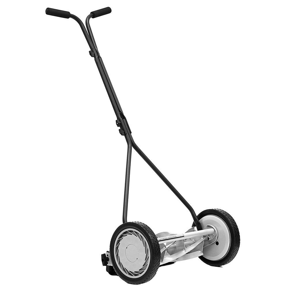 16 in. 5-Blade Walk Behind Nonelectric Manual Push Reel Lawn Mower
