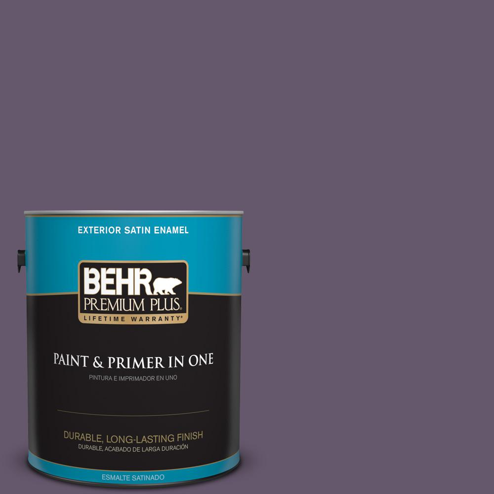 1 gal. #PPU17-04 Darkest Grape Satin Enamel Exterior Paint