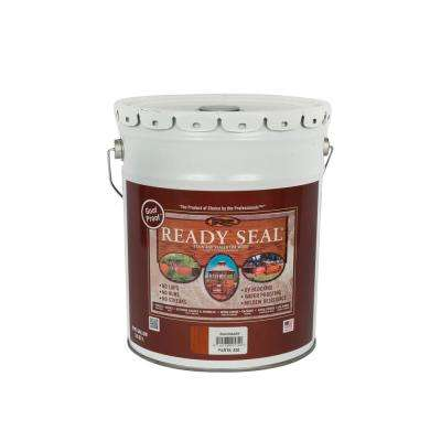 5 gal. Mahogany Exterior Wood Stain and Sealer