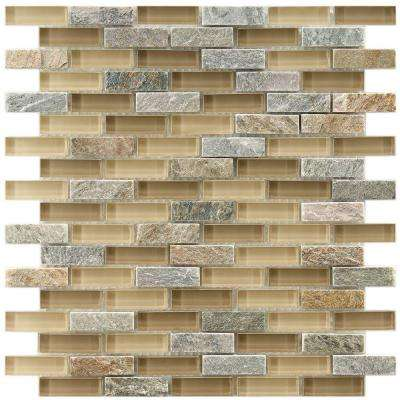 Tessera Subway Suffolk 10-3/4 in. x 11-3/4 in. x 8 mm Glass and Stone Mosaic Tile