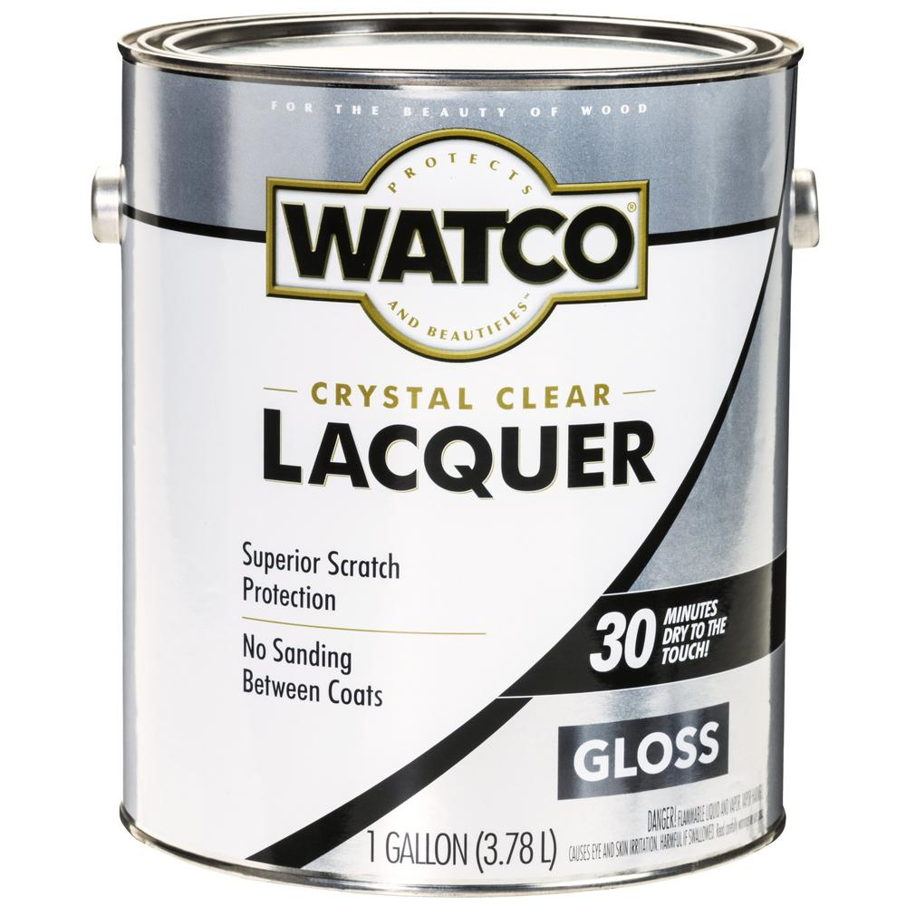 Watco 1 gal. Clear Gloss Lacquer Wood Finish (2-Pack)