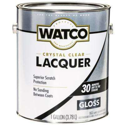 1 gal. Clear Gloss Lacquer Wood Finish (2-Pack)