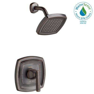 Edgemere 1-Handle Tub and Shower Faucet Trim Kit in Legacy Bronze (Valve Not Included)