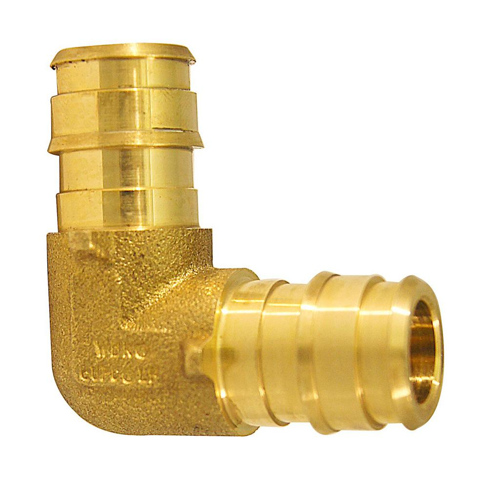 1/2 in. Brass PEX-A Expansion Barb 90 Elbow (10-Pack)