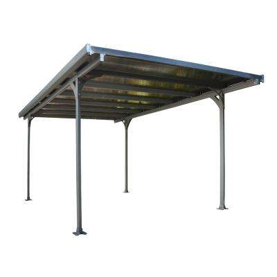 Verona 5000 9 ft. 9 in. W x 16 ft. 5 in. L x 7 ft. H Carport with Bronze Polycarbonate Roof Panels
