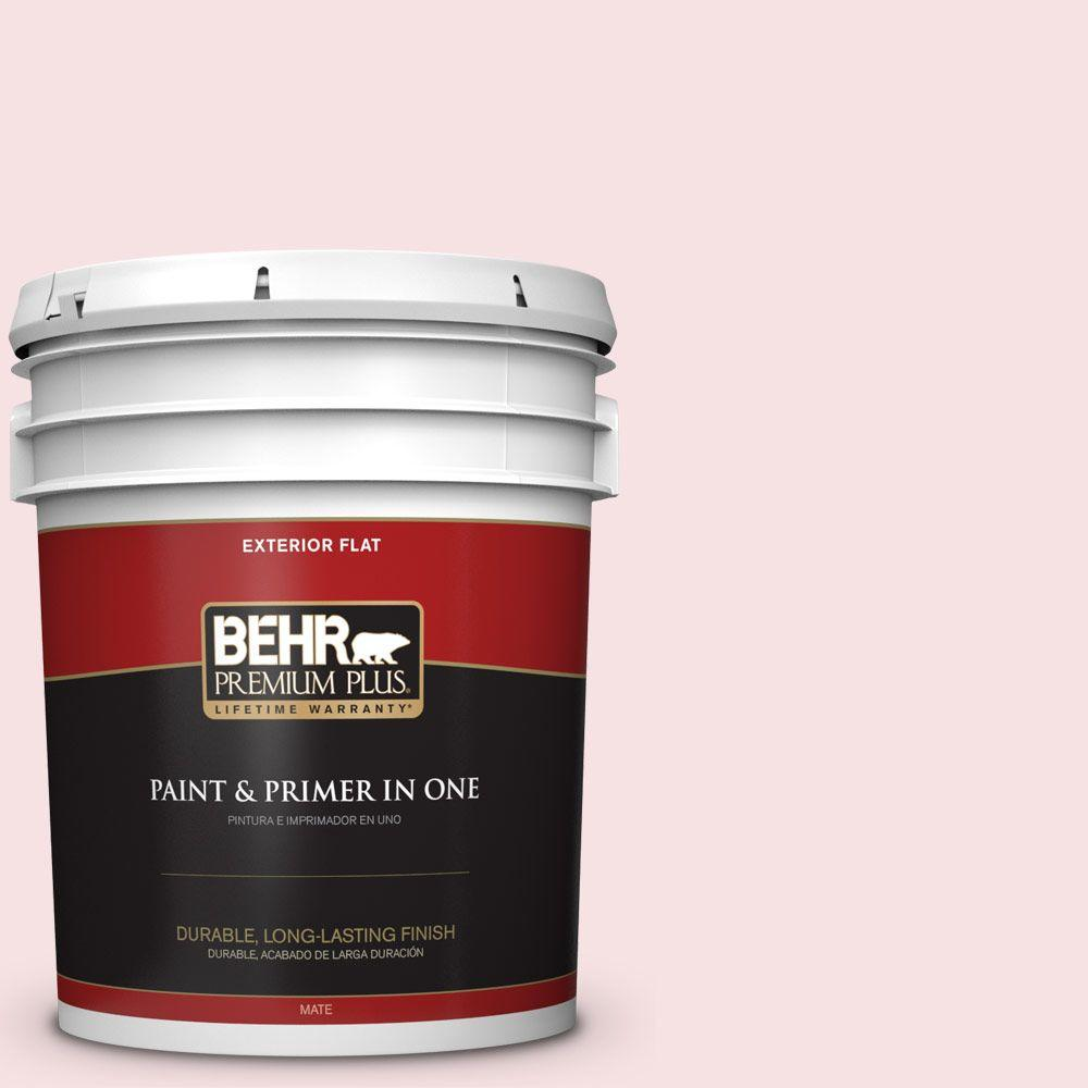 BEHR Premium Plus 5-gal. #140A-1 Strawberry Yogurt Flat Exterior Paint