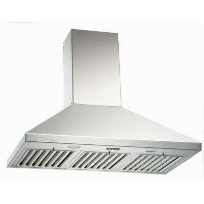 750 CFM 36 in. Wall Mount Range Hood in Stainless Steel 3-Speed QuietMode with LED Lights