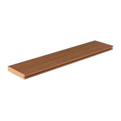 Vintage Collection 1 in. x 5-1/2 in. x 12 ft. Cypress Grooved Capped Polymer Decking Board