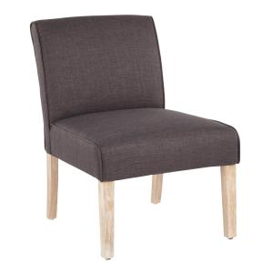 Excellent Lumisource Vintage Neo White Washed Wood And Grey Upholstery Gamerscity Chair Design For Home Gamerscityorg