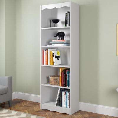 Hawthorn 72 in. Frost White Tall Bookcase