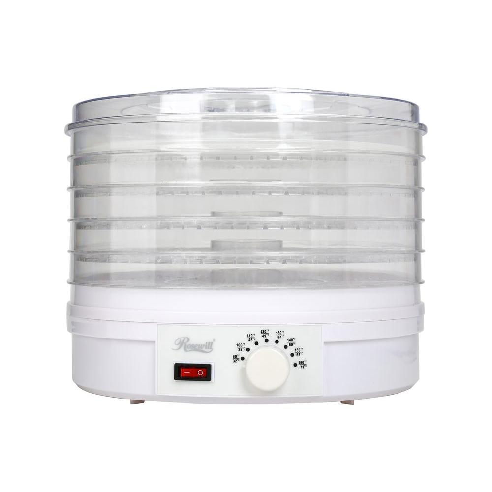 Rosewill 5-Tray Thermostat Adjustable Food Dehydrator, White