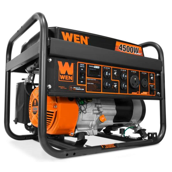 4500/3600-Watt 212 cc Transfer Switch and RV-Ready Gas-Powered Portable Generator, CARB Compliant