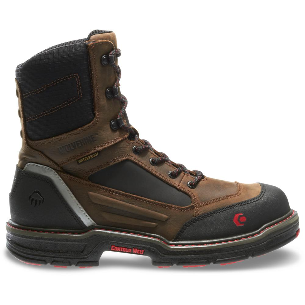 8d156a11c4c Wolverine Men's Overman Size 12EW Brown Full-Grain Leather Waterproof  Composite Toe 6 in. Boot